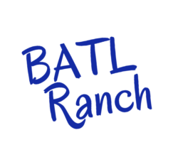 image of batlranch smaller logo in blue words