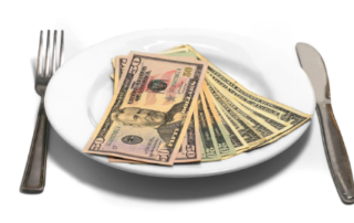 money on a plate